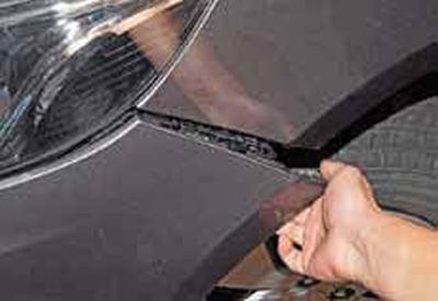 Снятие переднего бампера Киа Рио 3 (2011)