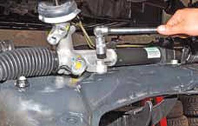 Снятие рулевого механизма Киа Рио 3 (2011)