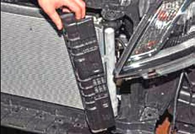 Снятие вентилятора и радиатора Киа Рио 3 (2011)